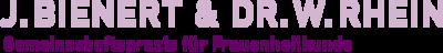 J. Bienert + Dr. W. Rhein Gemeinschaftspraxis für Frauenheilkunde Logo
