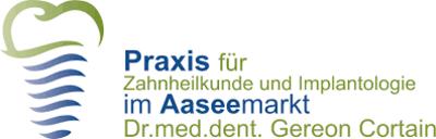 Praxis für Zahnheilkunde und Implantologie im Aaseemarkt Dr. med. dent. Gereon Cortain Logo